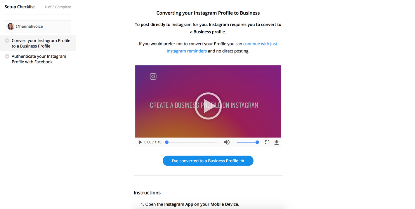 If You Do Not Claim The Page Your Instagram Business Profile Will Be Connected To A Facebook And Able Use Direct Scheduling