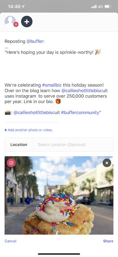 Publish] Scheduling Instagram reposts - Buffer FAQ