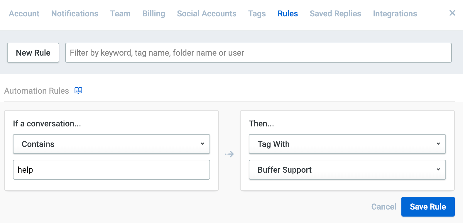 Reply] Setting up Automation Rules - Buffer FAQ