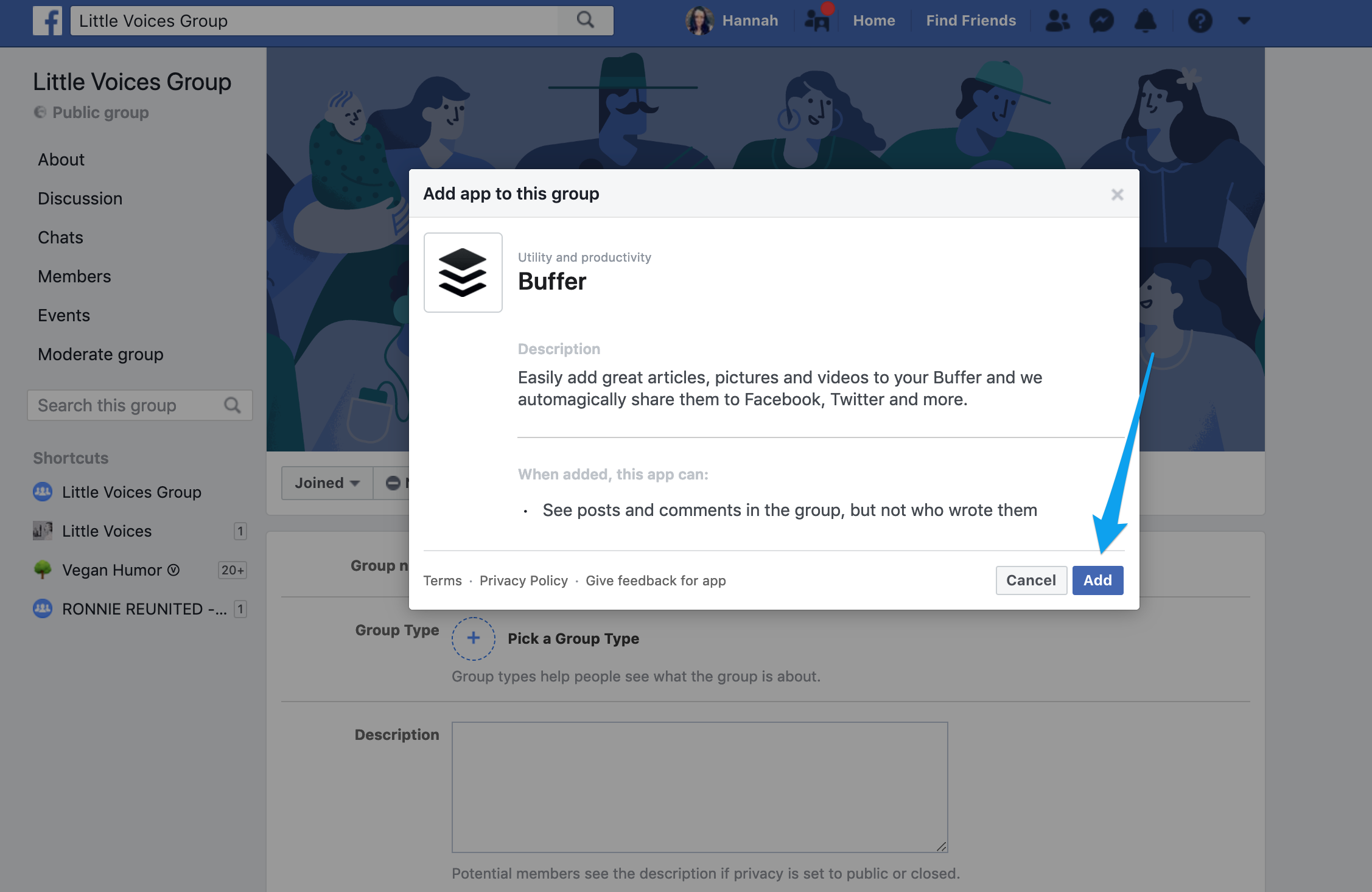 Publish] Connecting your Facebook Group - Buffer FAQ