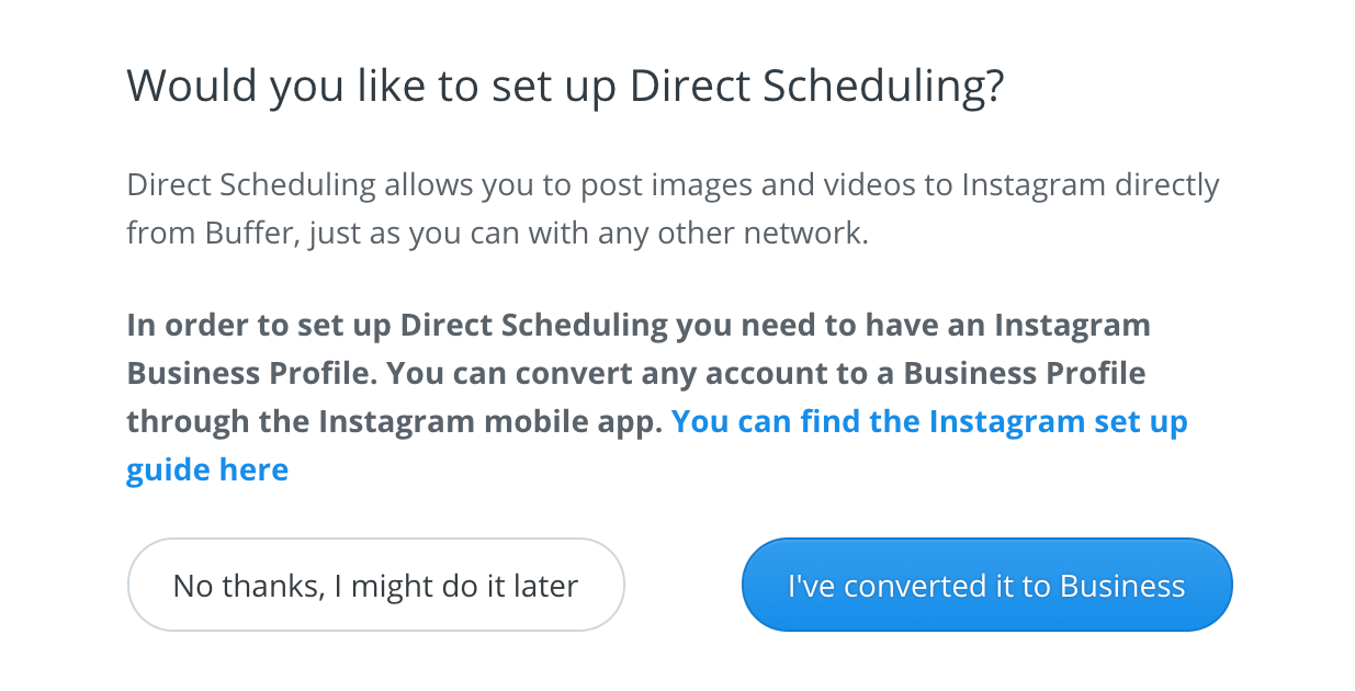 Publish] Connecting your Instagram account and setting up