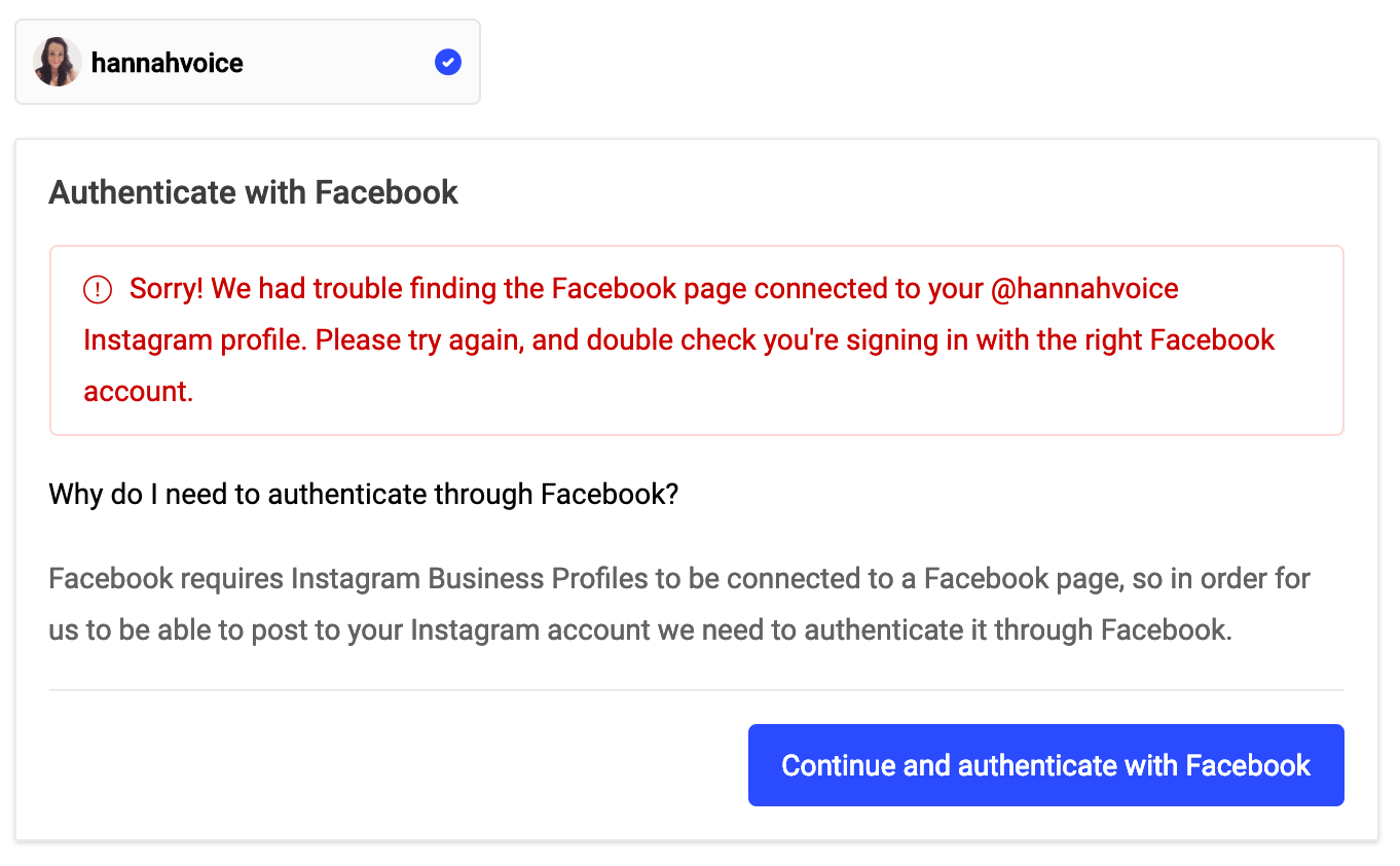 Publish] Troubleshooting Instagram connections - Buffer FAQ