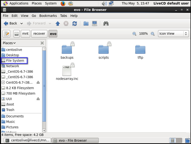 How to Mount Linux Filesystem from a Live CD and Copy a backup