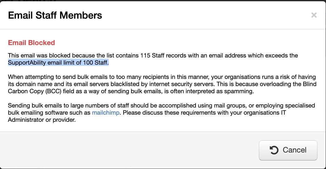 Sending Bulk Emails - SupportAbility Knowledge Base