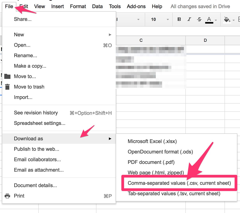How Do I Create A Csv File Mailshake Help