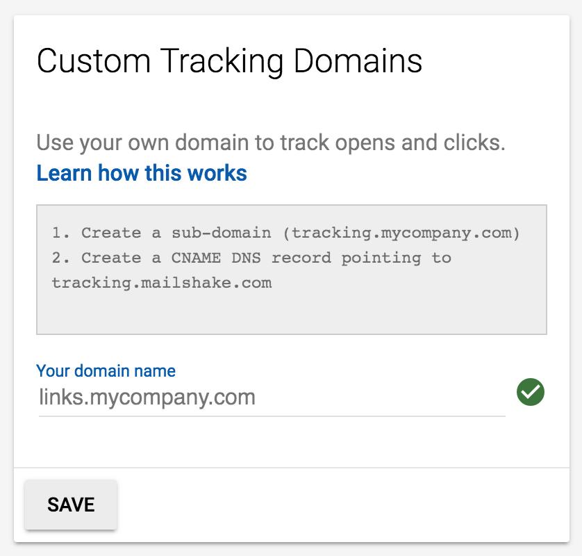 How do I create a custom tracking domain? - Mailshake Help