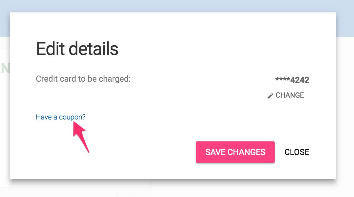 How Do I Apply A Coupon Code Mailshake Help