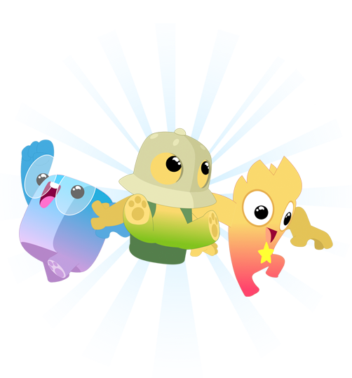 Example of Xello 3-5 animated Lesson characters