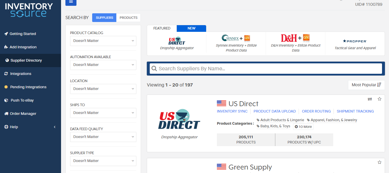 How to Use Our Supplier Directory - Help Docs - Inventory Source