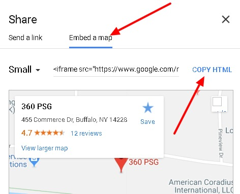 Embed Or Link To A Google Map Wysiwyg Editor Fission Cms