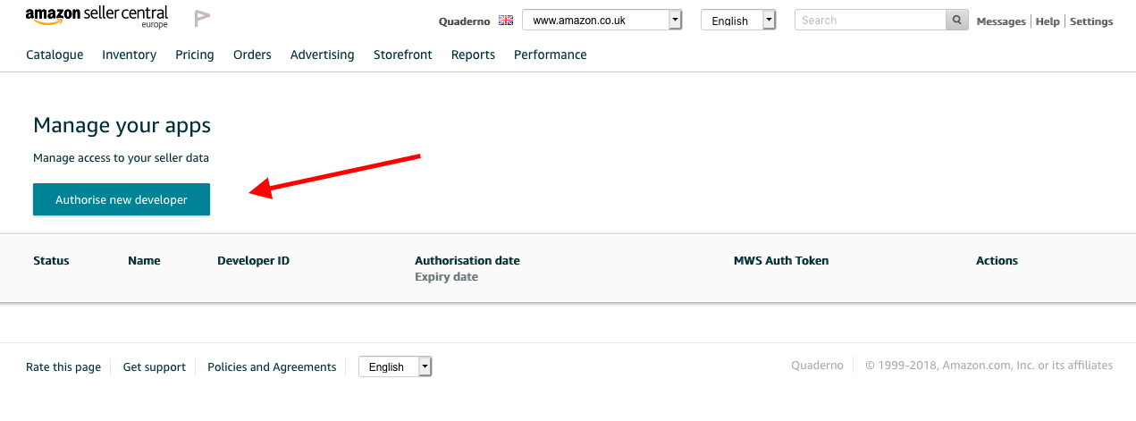 Integrating with Amazon FBA - Quaderno Support