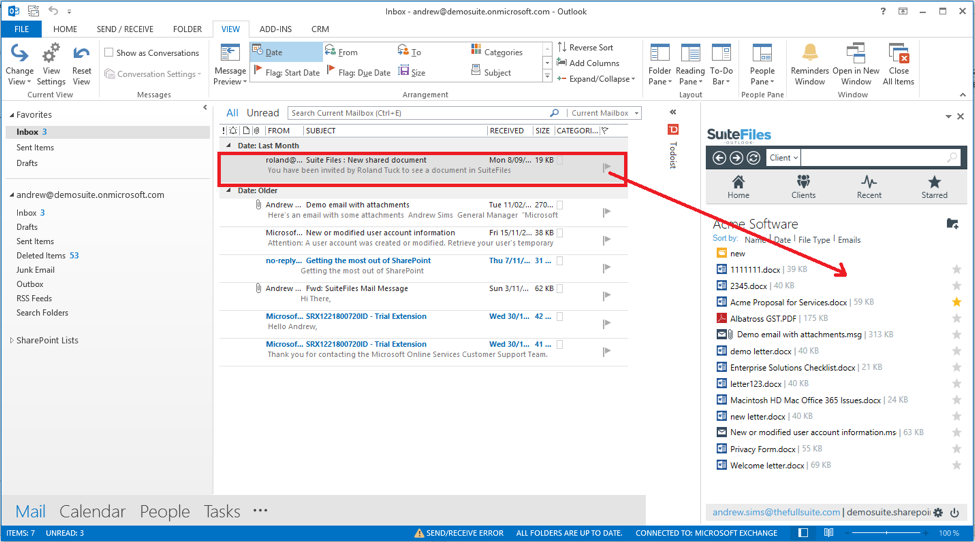 How to save and attach emails - SuiteFiles Knowledge Base