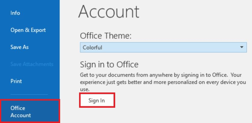 Fix constant sign in prompt for Office - SuiteFiles