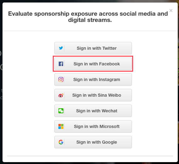 Social Media Login - Owned & Operated Accounts - Blinkfire Analytics