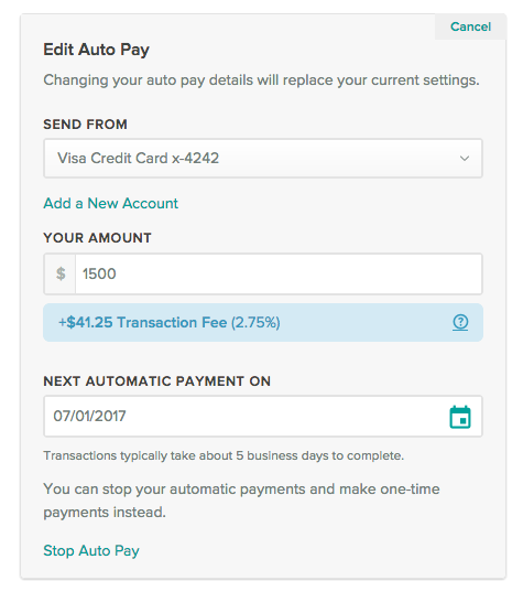 how do i change the amount of my auto pay cozy help center