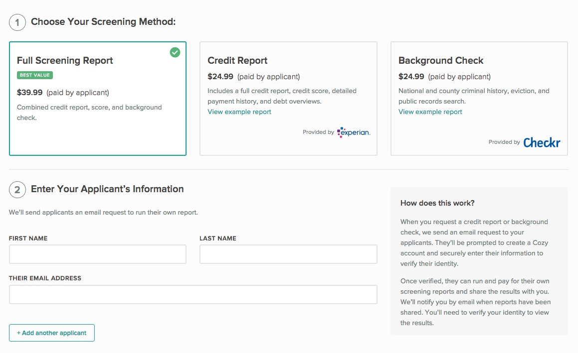 Request just reports page, where you enter their name and email