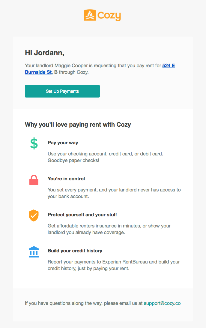 What Payment Emails Does Cozy Send To My Tenant Cozy Help Center
