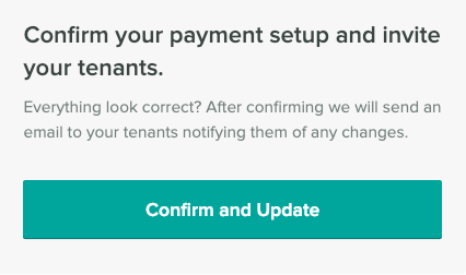 Confirm your payments setup