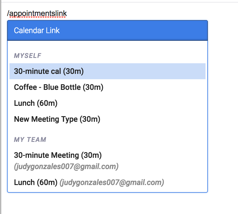 minute of meeting email