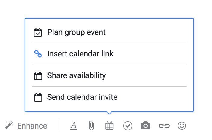 when you select that option youll be able to select exactly which meeting template link youd like to send