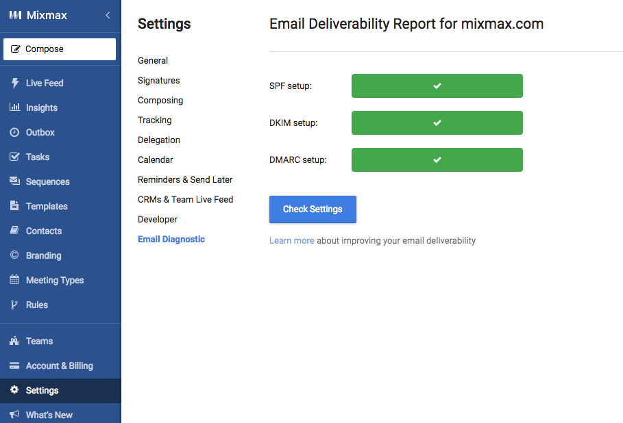 Optimize your email deliverability - Mixmax Help Center