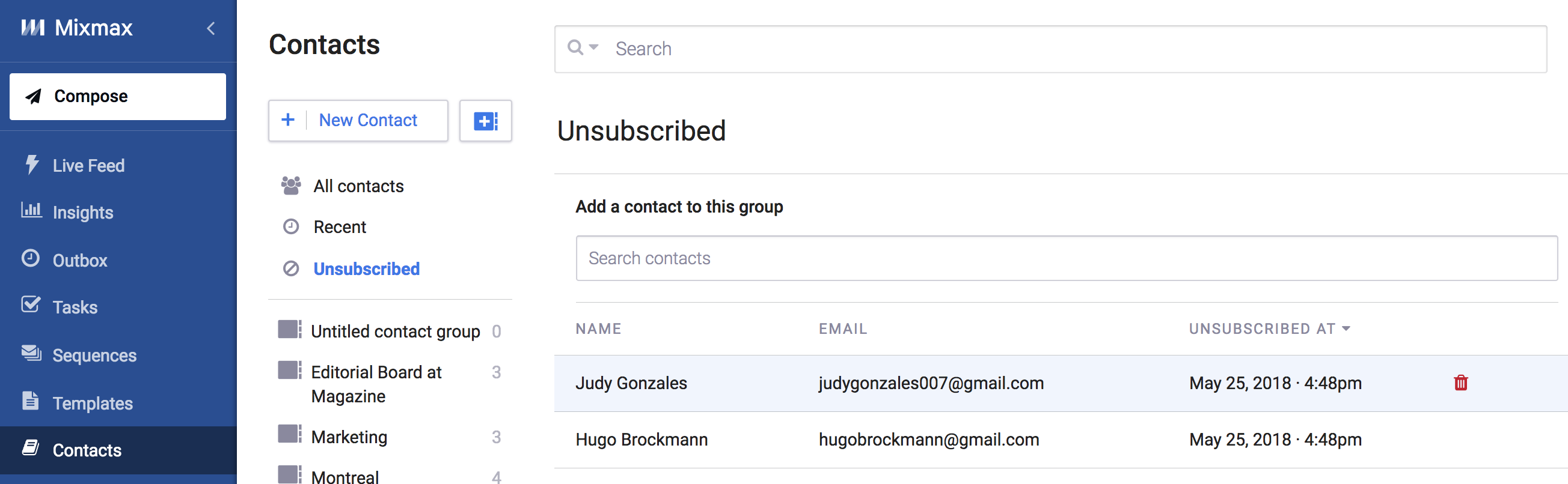 Add an 'Unsubscribe' link to your Sequences - Mixmax Help Center