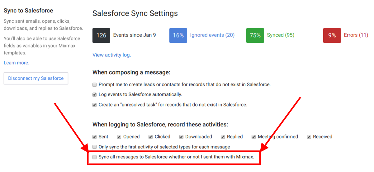 Syncing to Salesforce from mobile - Mixmax Help Center