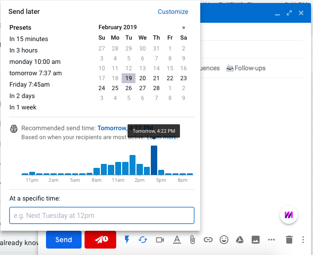 Recommended Send Times - Mixmax Help Center