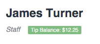 Tipping in Time To Pet - Tip Balance on staff profile for disbursement