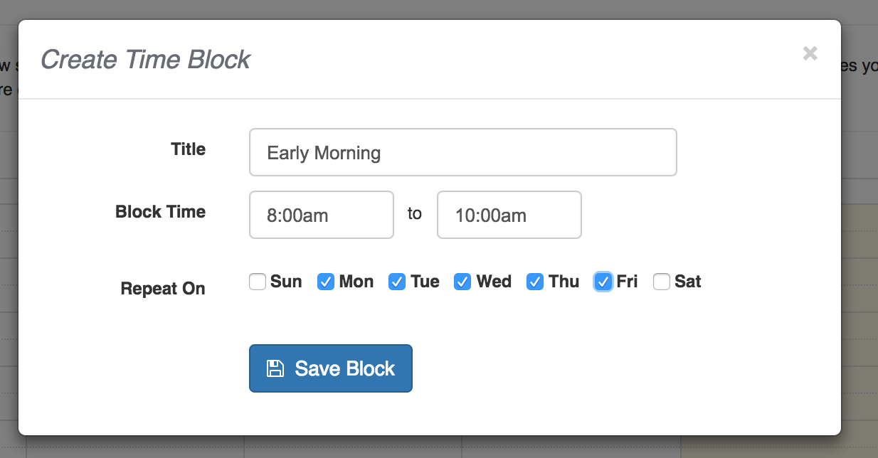 schedule blocks time to pet knowledge base