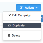 Sending Mass Emails To Clients - Duplicate campaign option in Actions