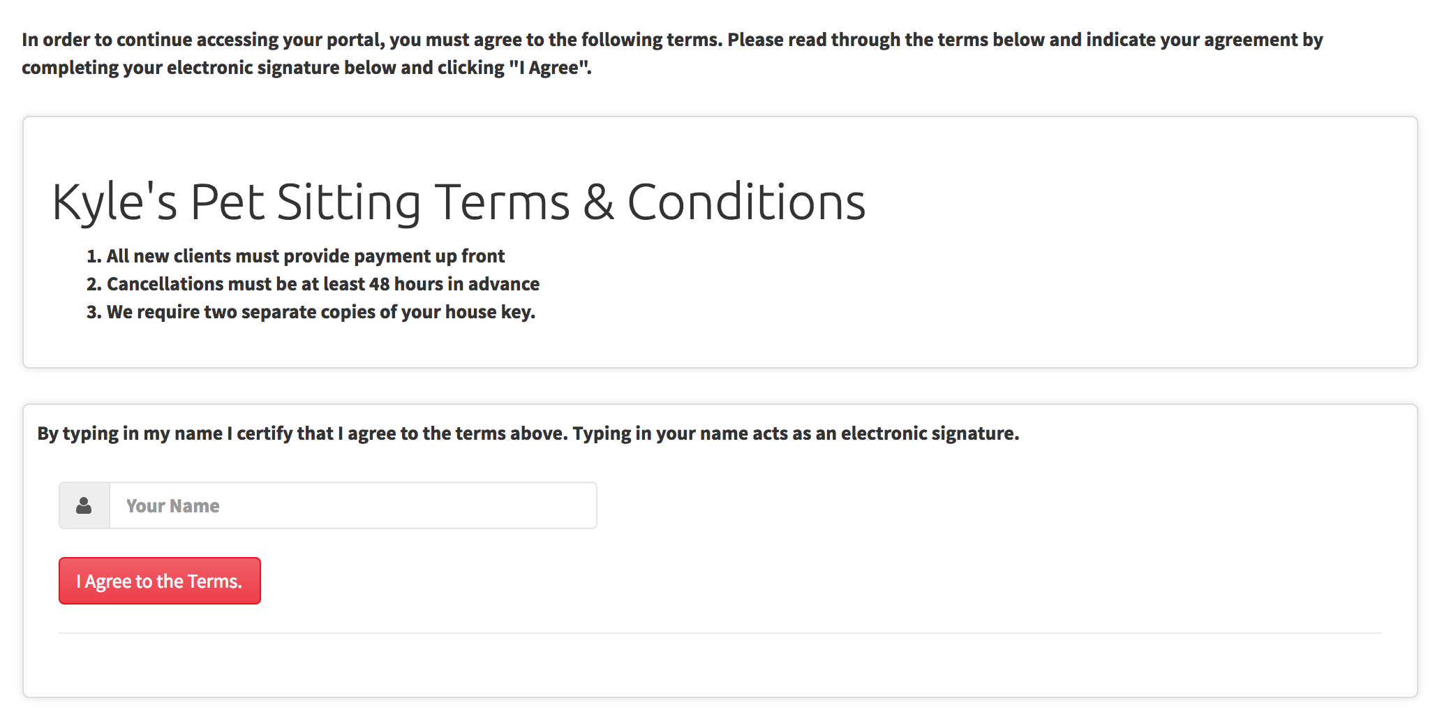Creating A Portal Policy Agreement Time To Pet Knowledge Base