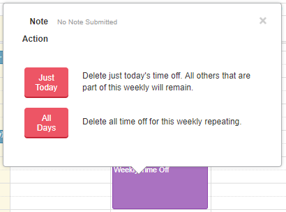 Requesting Time Off - Just Today or All Days deletion request