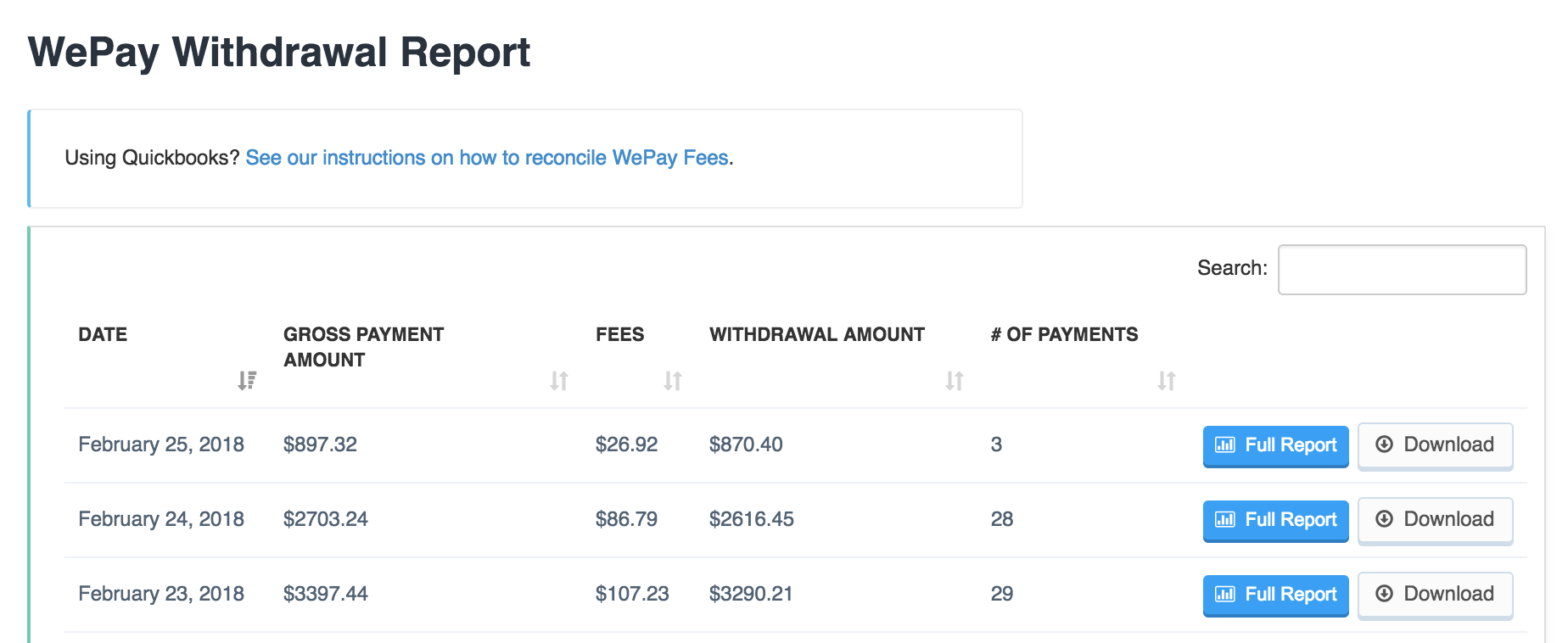 Recording WePay Fees In Quickbooks - Time To Pet Knowledge Base