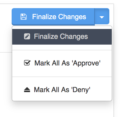Processing Change And Cancellation Requests - Finalize changes