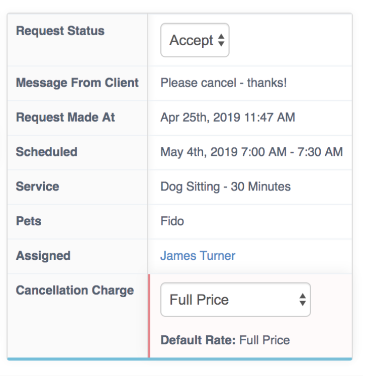 Processing Change And Cancellation Requests - Accept or Process Change