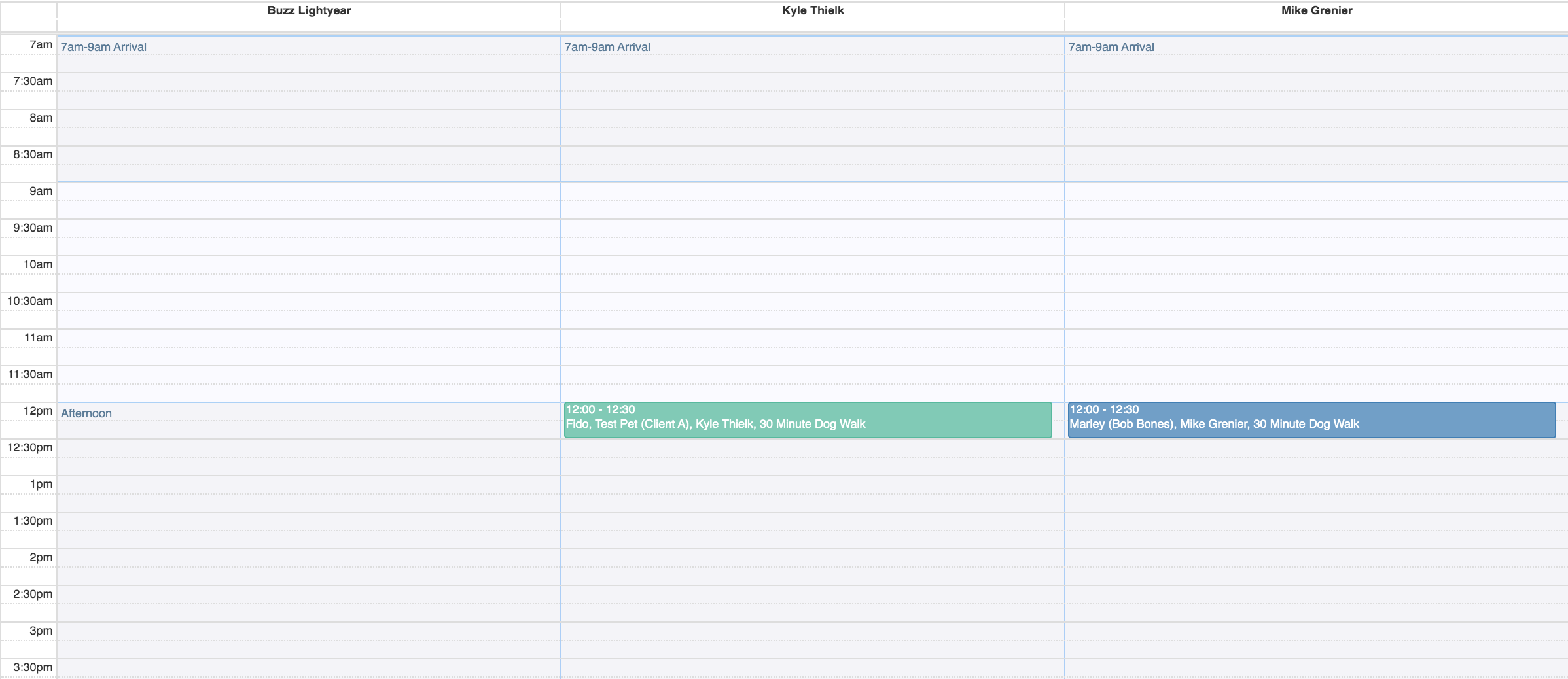 Example of the Day - Vertical option Timeline View in the Scheduler