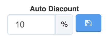 Image showing 10% Auto Discount and save button