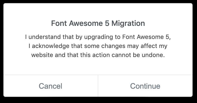 اخطار Font Awesome 5 Migration در هنگام اضافه کردن آیکون های سفارشی در المنتور