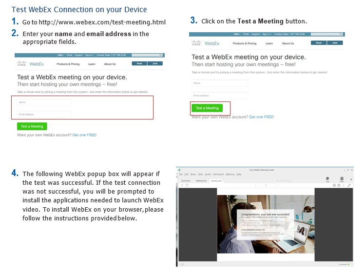Setting up Computer for Webex Webinars - Classical