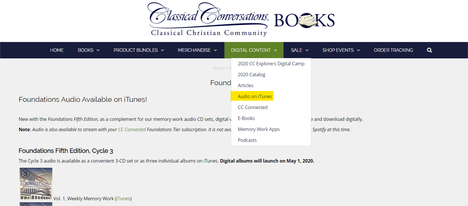 Foundations Audio Cds On Itunes Classical Conversations Customer Help Site