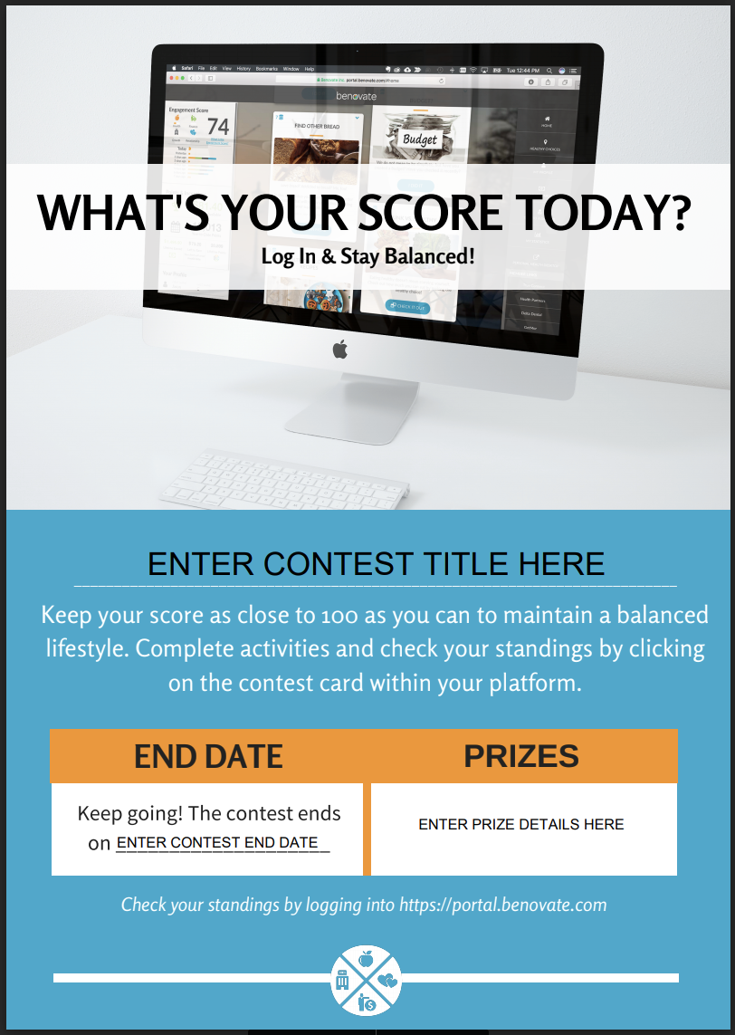 Fillable Engagement Score Poster