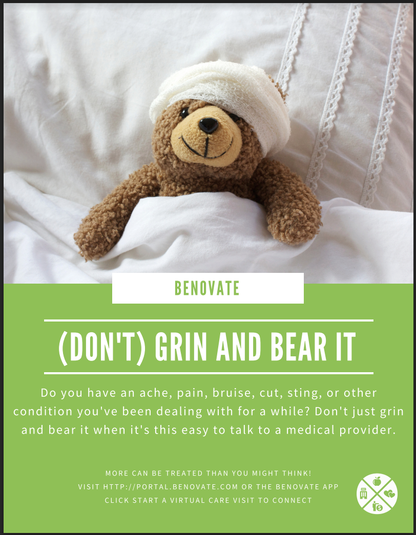 Grin and Bear It Virtual Care Poster