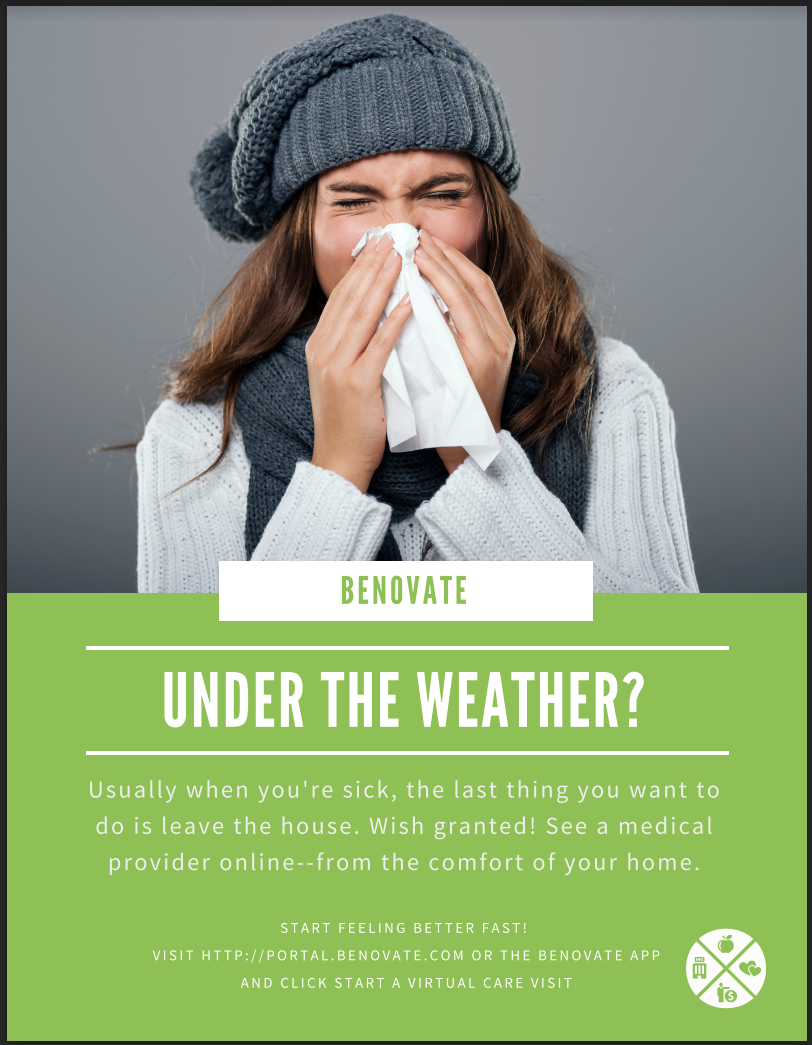 Under the Weather Virtual Care Poster