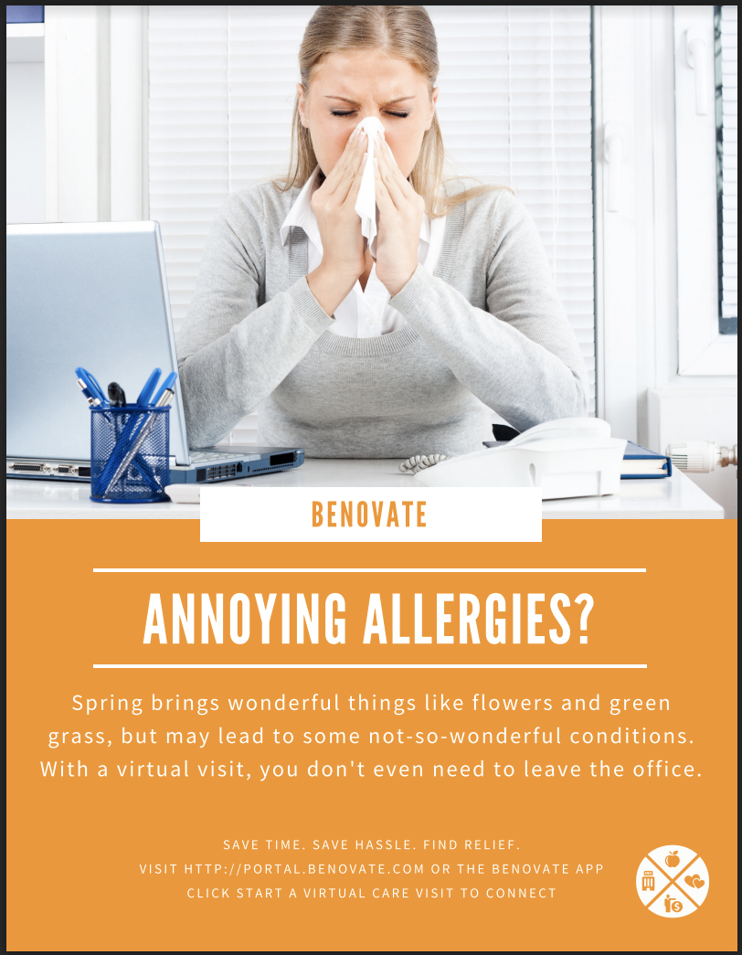 Annoying Allergies Virtual Care Poster