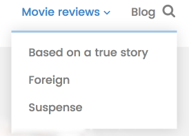 movie review layout