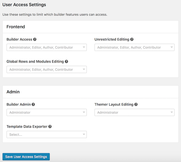 Control user access by role - Beaver Builder Knowledge Base