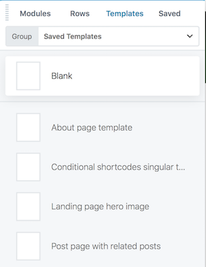 Categorize and add thumbnails to the saved templates list - Beaver ...