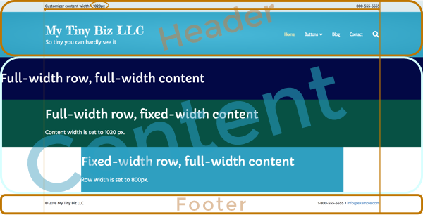 overview of full width and boxed pages and rows beaver builder
