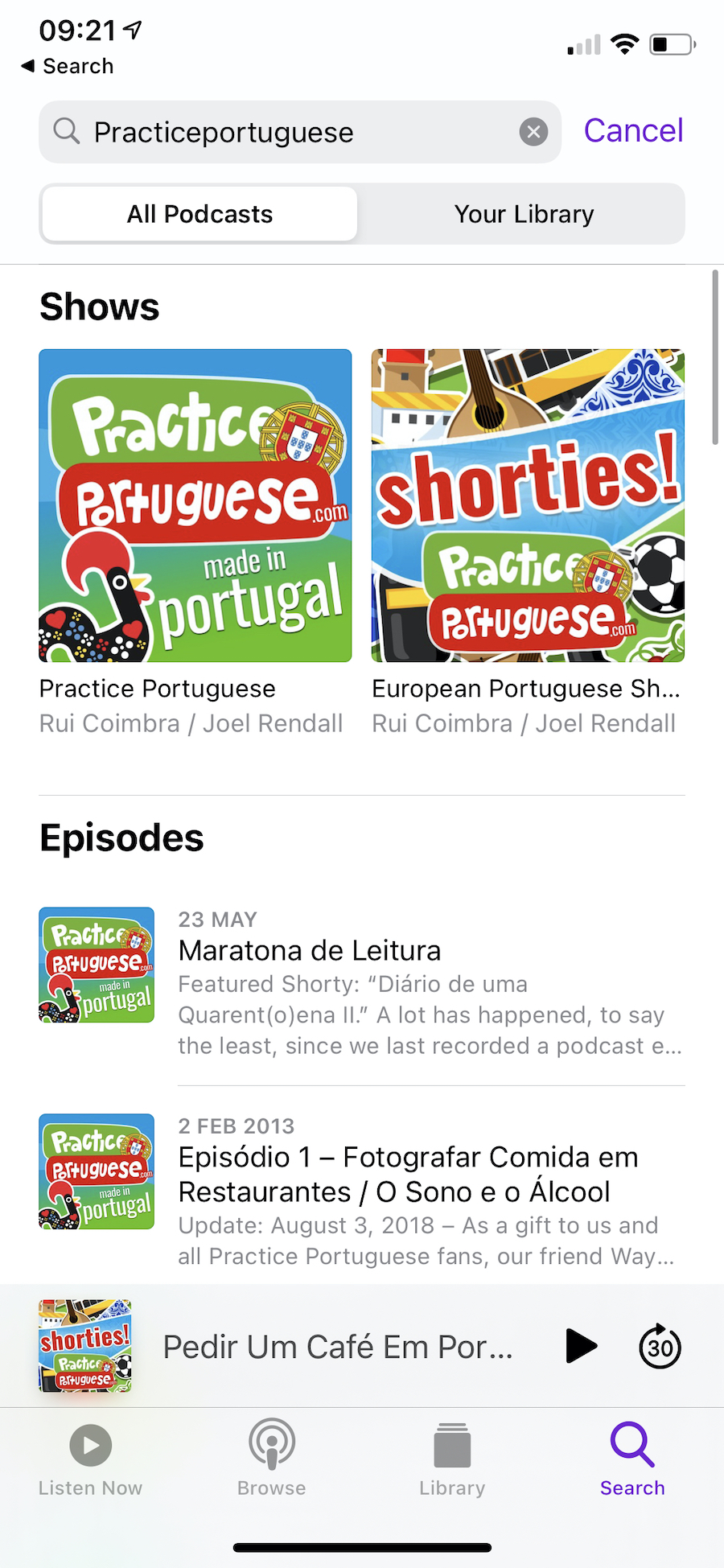 Finding Our Podcast Feeds on iOS Podcasts App